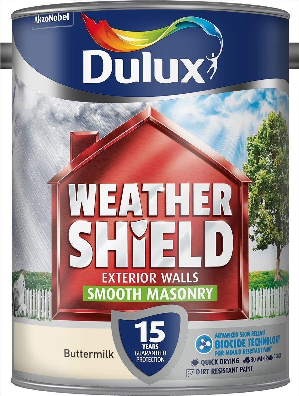 Weathershield Smooth Masonry Paint 5l Various Colours Tools First