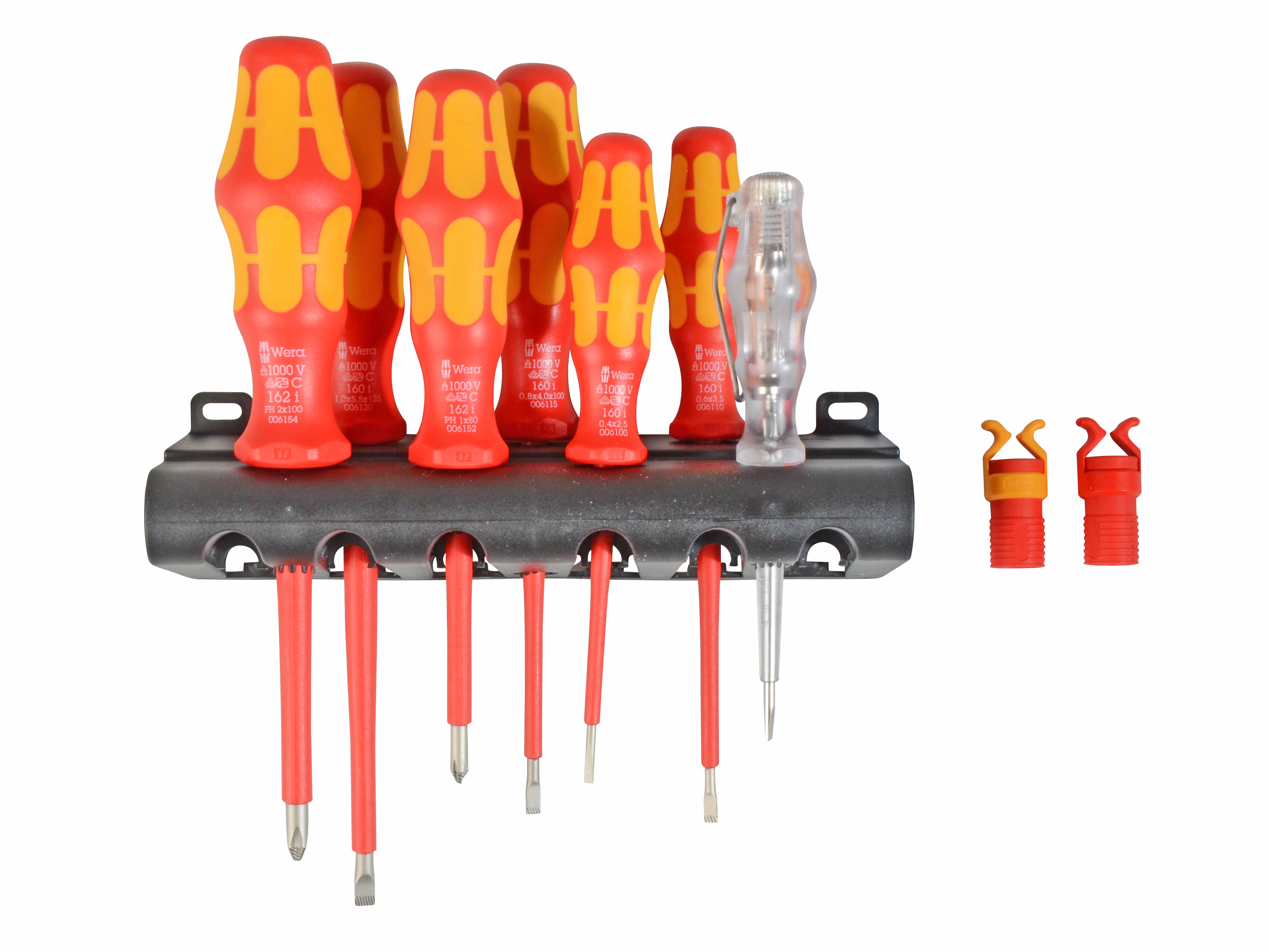 Wera Vde Screwdriver Set With Grippers Tools First Kraftform Voltage Tester Circuit Testers